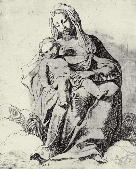 Аннибале Карраччи. Мадонна в облаках