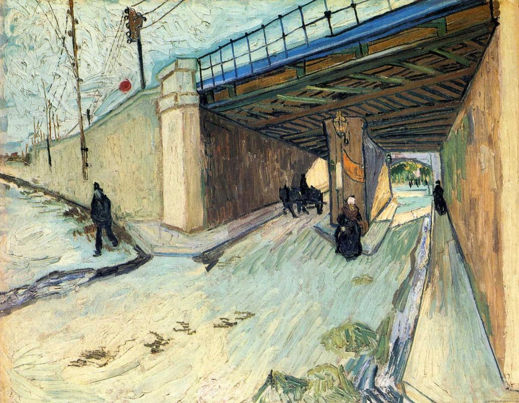 Винсент Ван Гог. Железнодорожный мост через дорогу в Тараскон