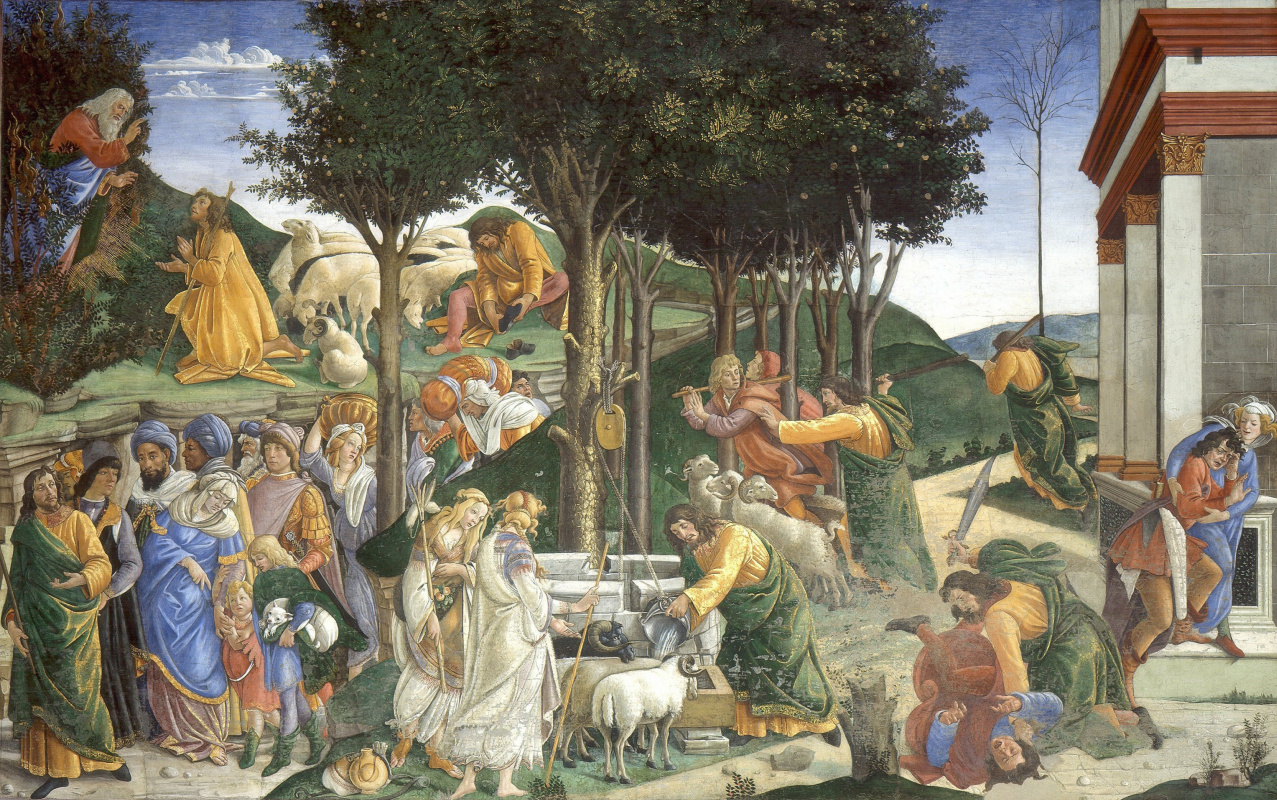 Sandro Botticelli. The Calling Of Moses