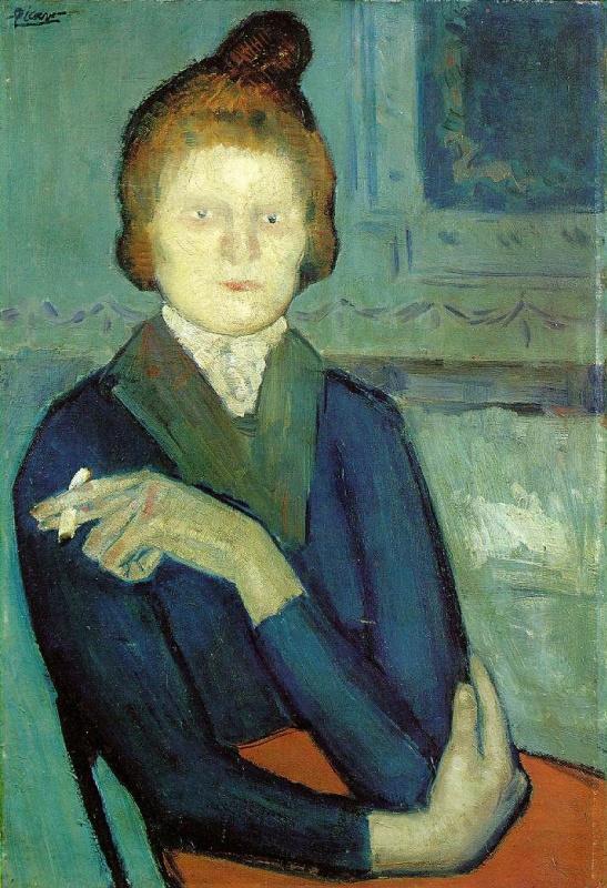Пабло Пикассо. Женщина с сигаретой
