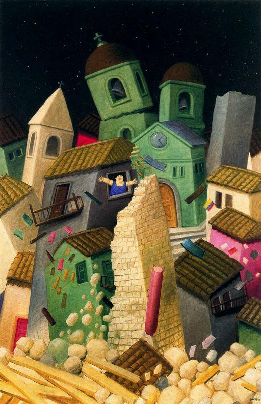 Fernando Botero. Earthquake