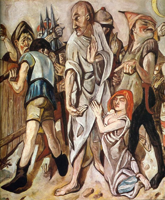 Макс Бекман. Христос и блудница