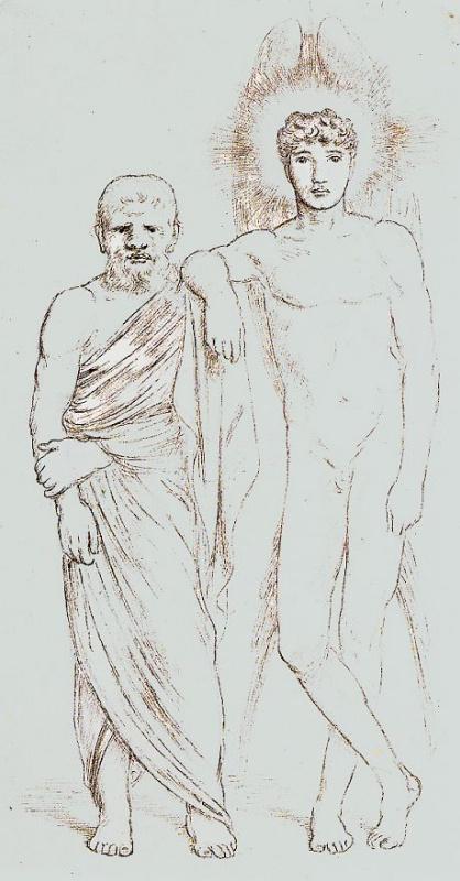 Симеон Соломон. Сократ и его демон