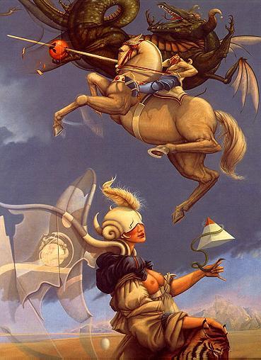 Michael Parkes. Battle