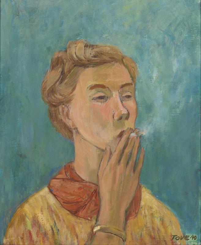 Туве Янссон. Курящая девушка. Автопортрет