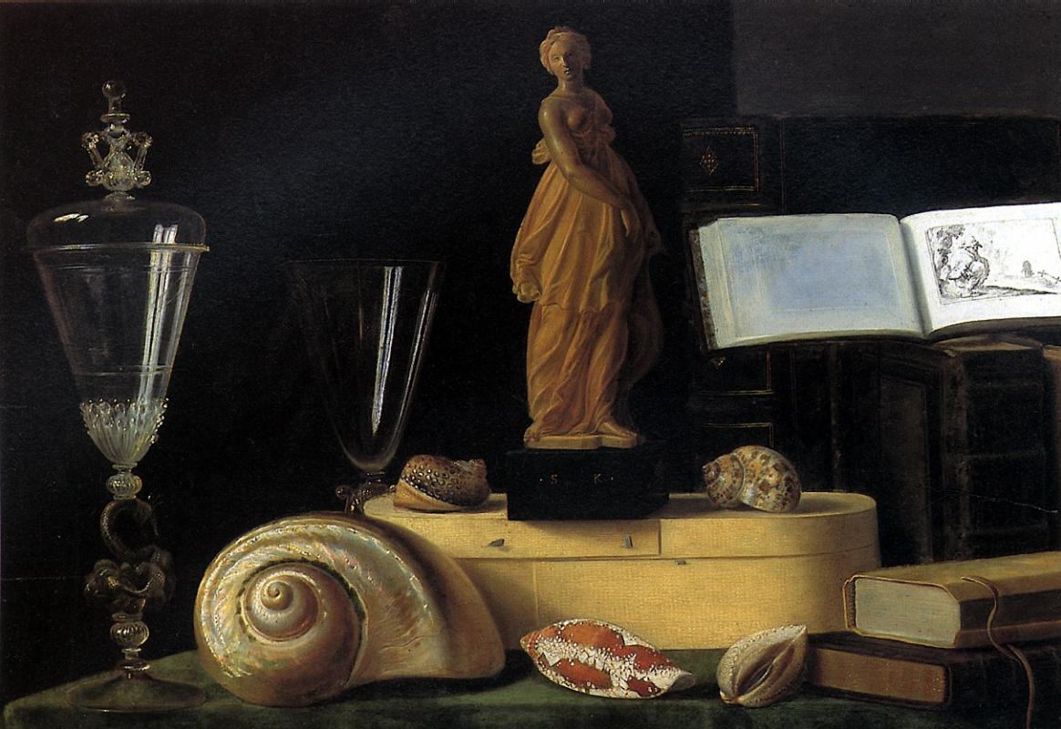 Себастьян Штоскопф. Натюрморт со статуэткой и раковиной