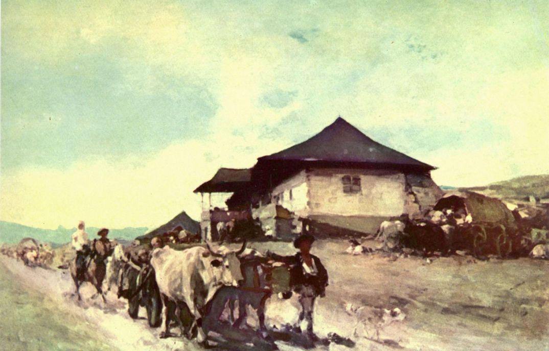 Николае Григореску. Воз с волами в Орэции