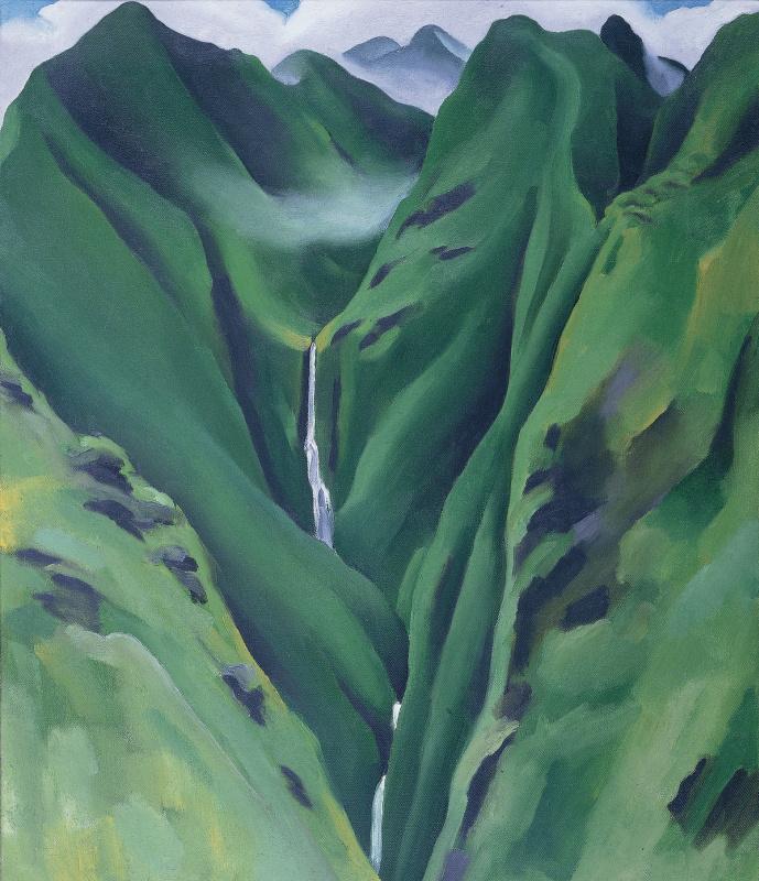 Джорджия О'Киф. Водопад №1. Долина Иао, Мауи
