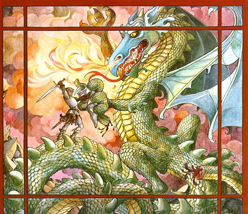Трина Шарт Хайман. Святой Георгий и дракон 08