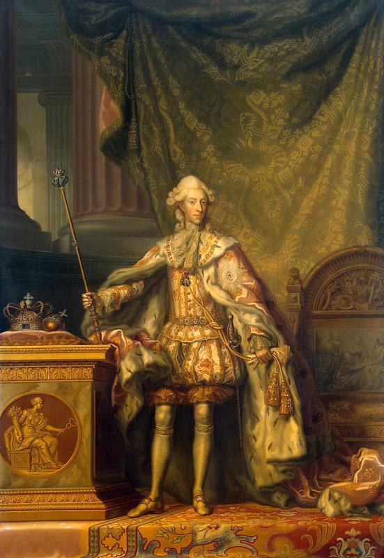 Педер Оккерфельдт. Портрет Кристиана VII, датского короля
