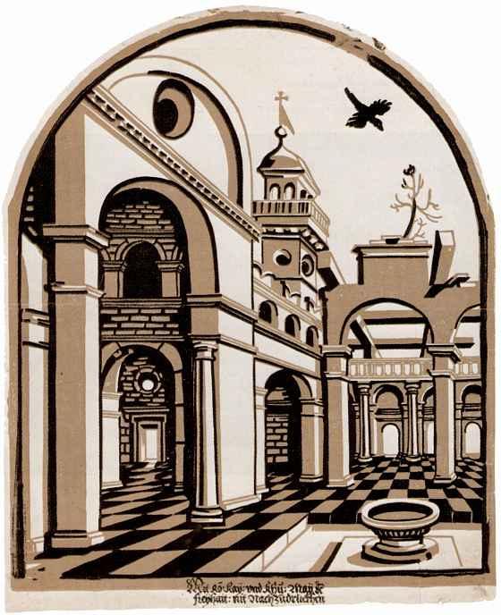 Эразм Луа (Лой). Двор с церковной башней