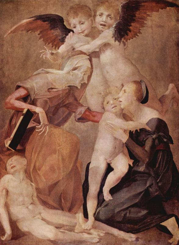 Fiorentino Rosso. Holy family