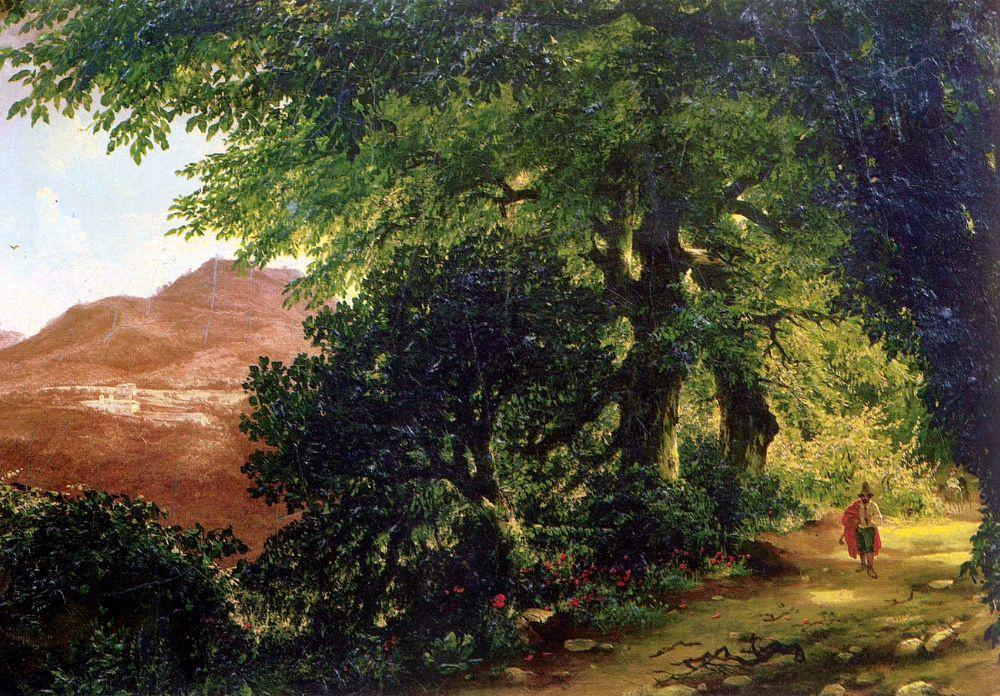 Михаил Иванович Лебедев. Аллея в Альбано близ Рима