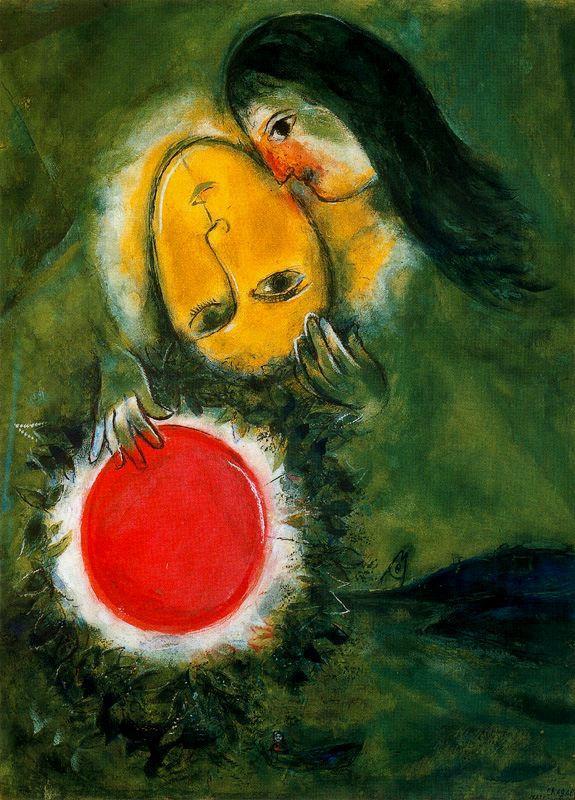 Marc Chagall. Green landscape