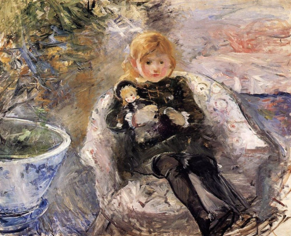 Berthe Morisot. Girl with a doll
