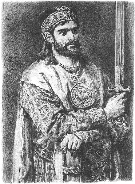 "Jan Matejko. Casimir II the Just. Series ""Portraits of Kings and Princes of Poland"""