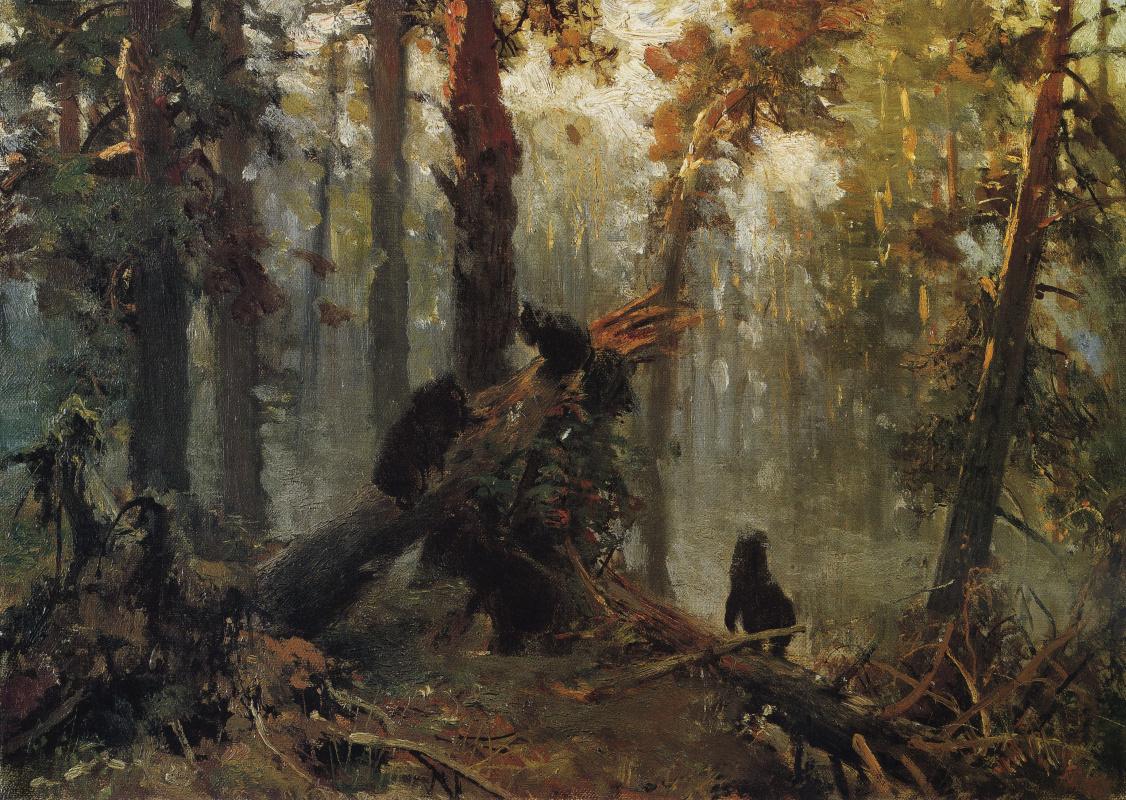 Иван Иванович Шишкин. Утро в сосновом лесу. Эскиз