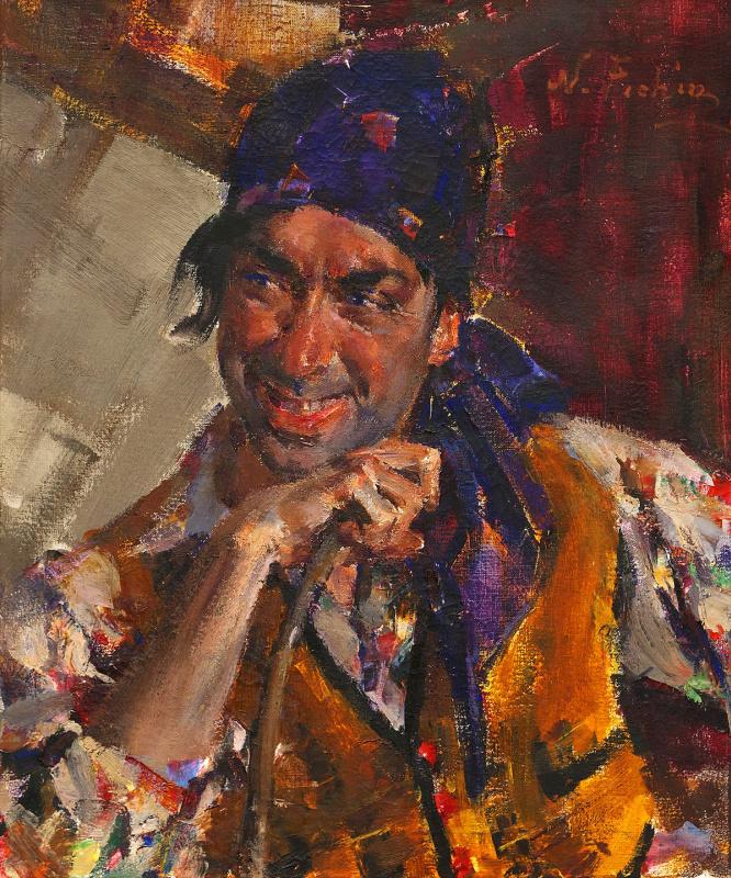 Antonio Triana in the image of a gypsy