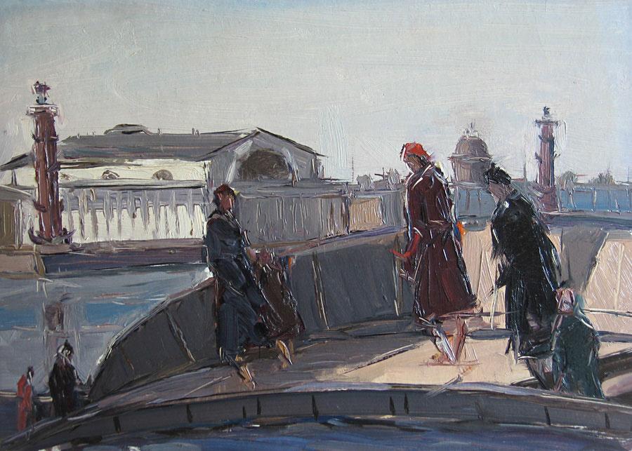 Arseniy Nikiforovich Semenov. On the Neva Embankment.