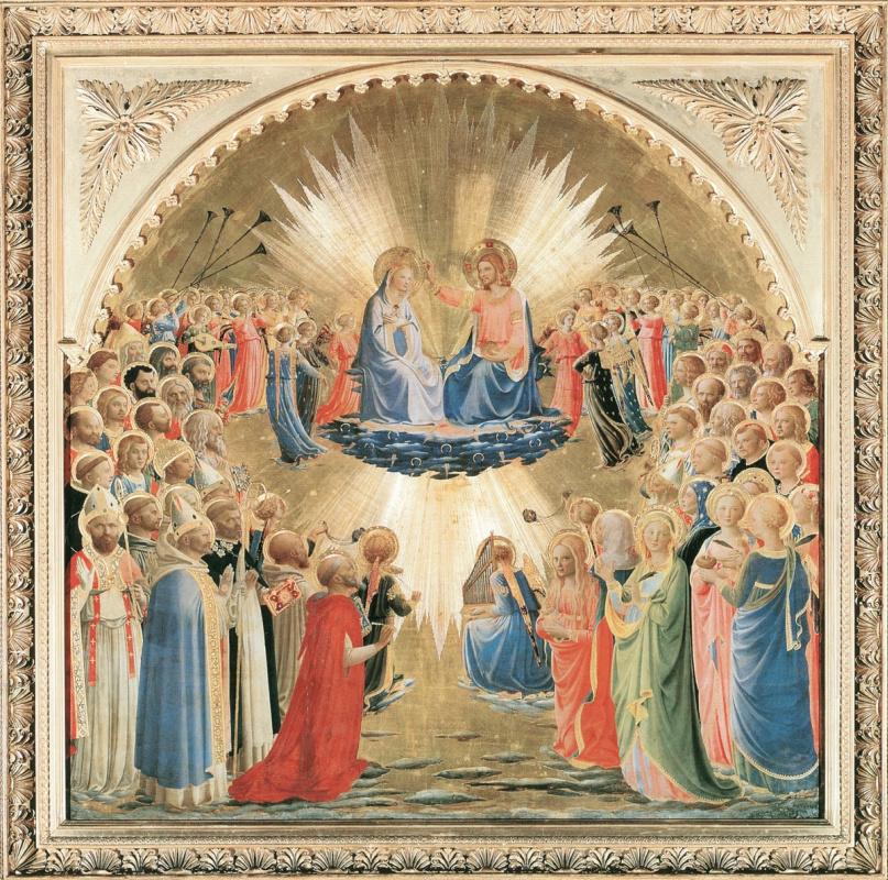 Фра Беато Анджелико. Алтарь Коронование Девы Марии