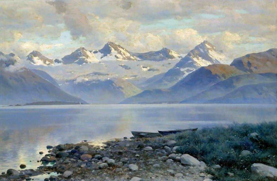 Константин Яковлевич Крыжицкий. Озеро в горах