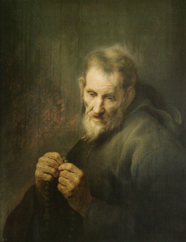 Jan Lievens. The praying monk
