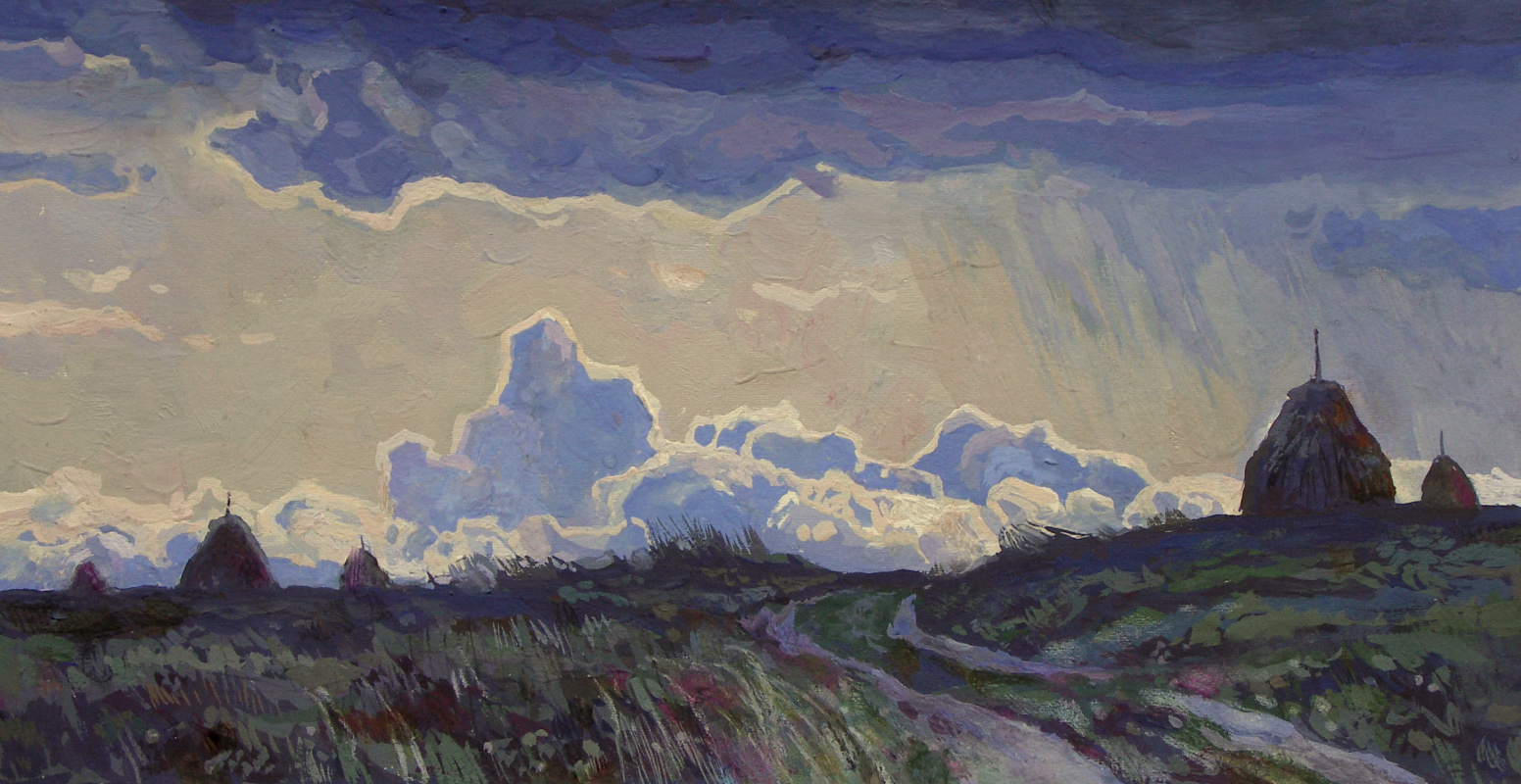Oleg Borisovich Zakharov. Goes evening thunderstorm