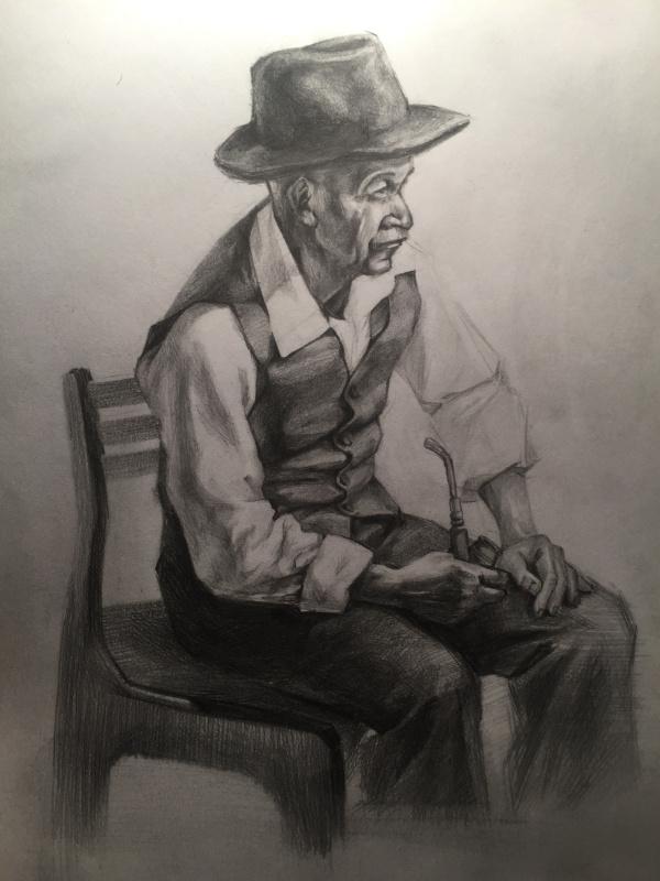 Diana Eminovna Rasulova. Old man (copy)