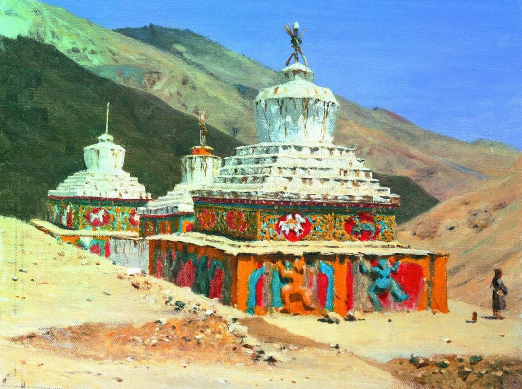 Vasily Vereshchagin. Posthumous monuments in Ladakh