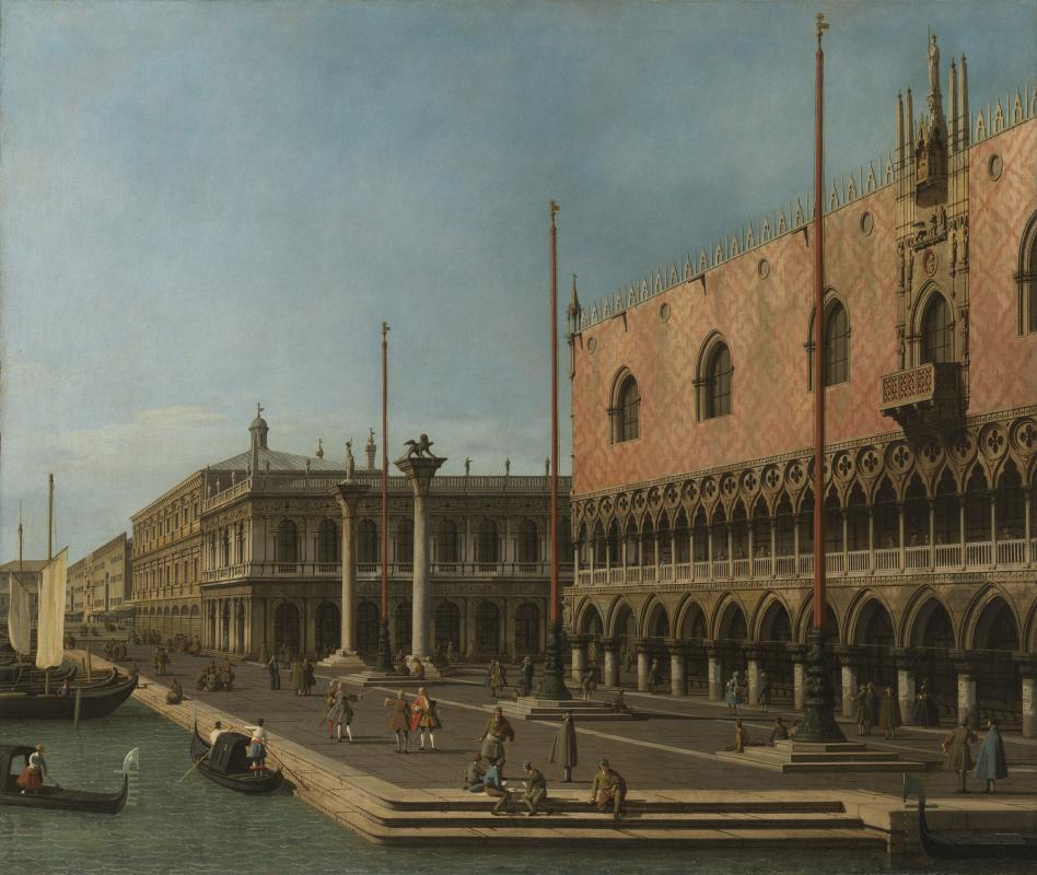 Джованни Антонио Каналь (Каналетто). Вид на молл и Дворец дожей