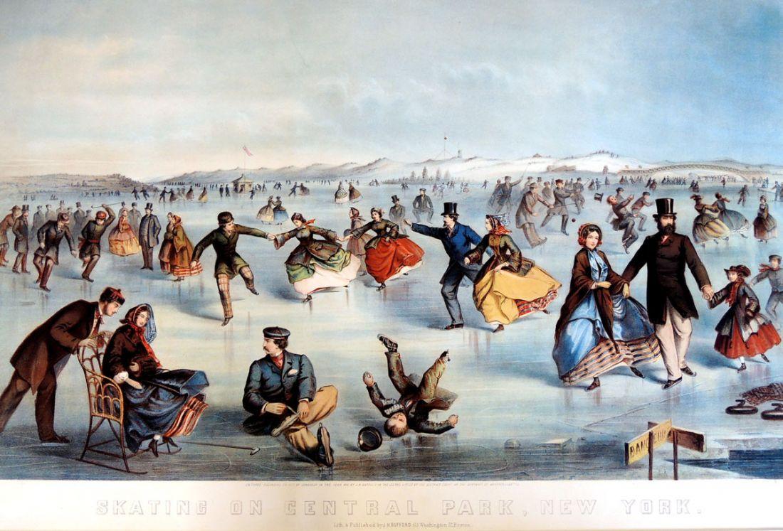 Уинслоу Хомер. Катание на коньках в центральном парке