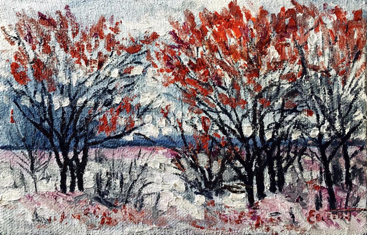 Тимофей Евсеев. Яблоки на снегу
