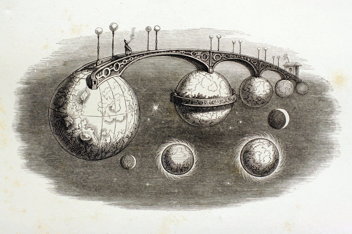 """Jean Inias Isidore (Gerard) Granville. Journey through the Universes. A series of """"Other World"""""""