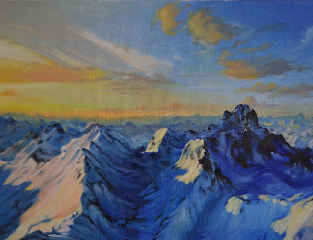 Polina Komkova. The mountains