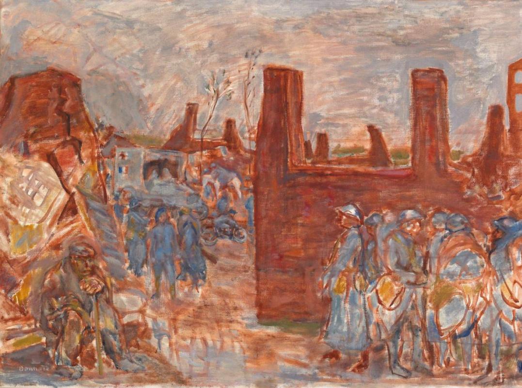Pierre Bonnard. A Village in Ruins near Ham