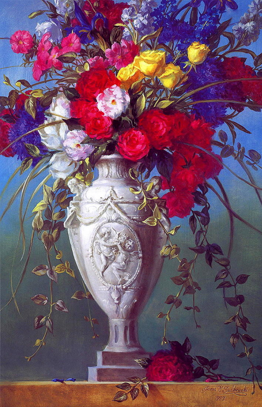 Джеймс Сулковский. Антикварная цветочная ваза