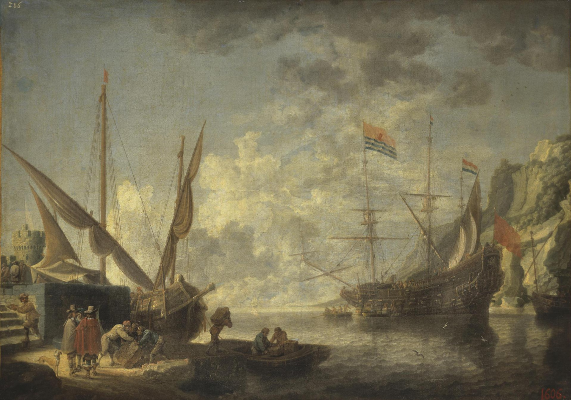 David Teniers the Younger. Seaside harbor