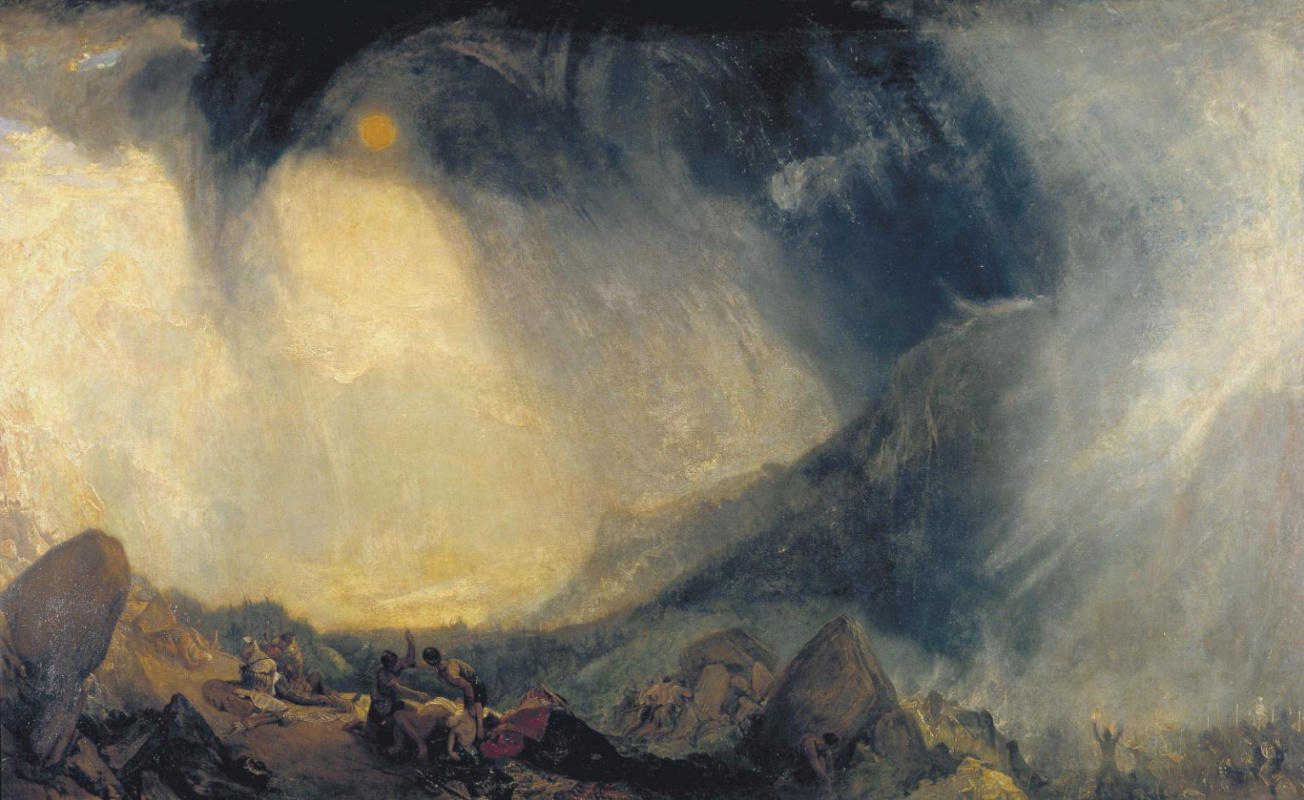 Joseph Mallord William Turner. Snow storm. Hannibal with his army crossing the Alps