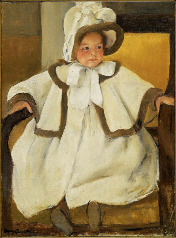 Mary Cassatt. Ellen Mary in a white coat