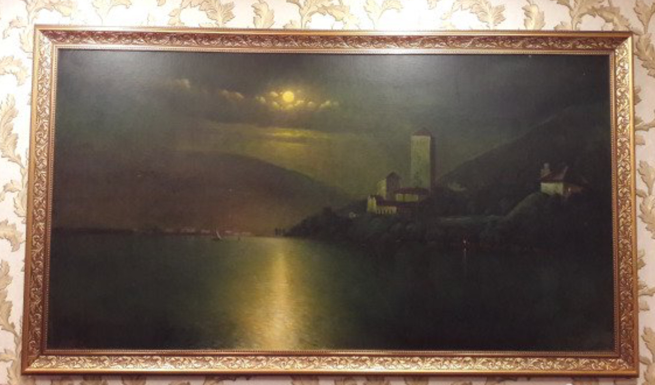 Alexander Alexandrovich Zotov. Castle by the sea. Night