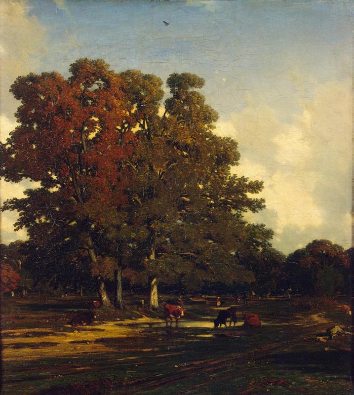 Жюль Дюпре. Осенний пейзаж