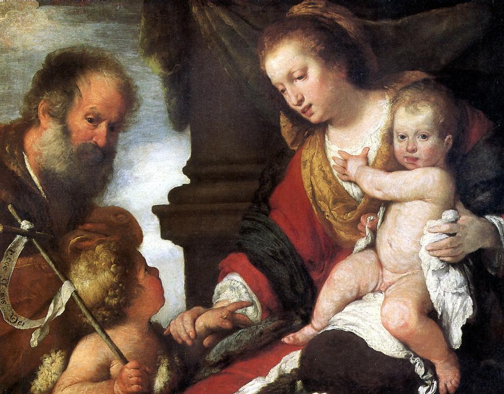 Бернардо Строцци. Святое семейство со Святым Иоанном Крестителем