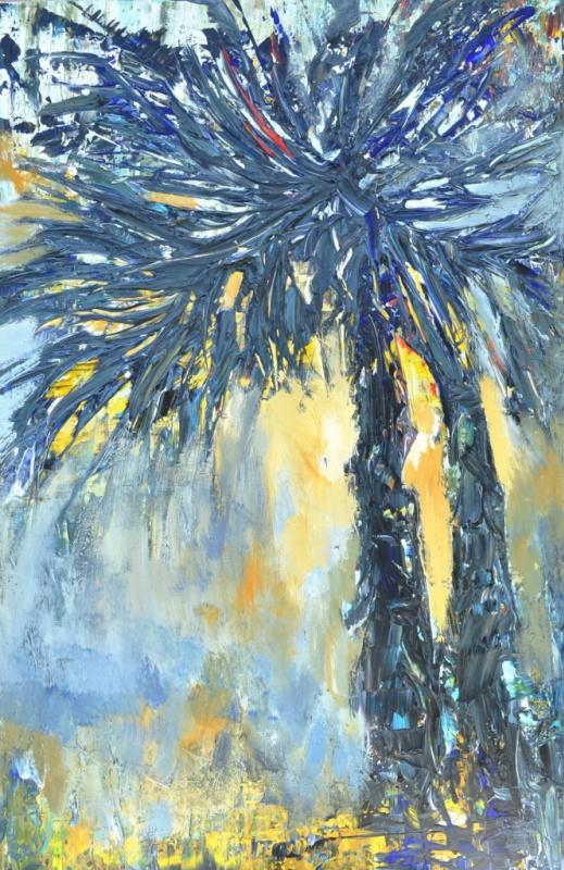 "Tanya Vasilenko. ""Palm"" acrylic on canvas. Palms. Acrylic on canvas."