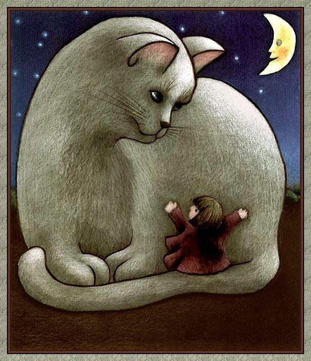 Анна Диван. Белый кот