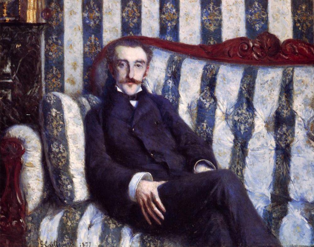 Gustave Caillebotte. Portrait of a man