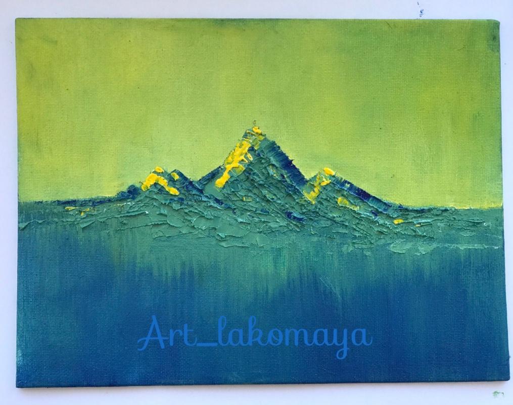 Olga Lakomaya. Dawn in the mountains