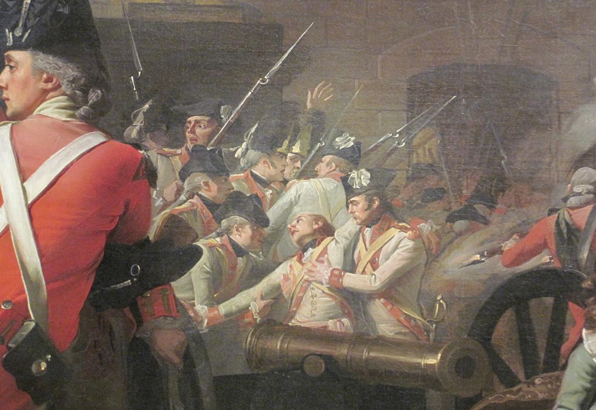 John Singleton Copley. The death of major Pierson, 6 January 1781. Fragment II