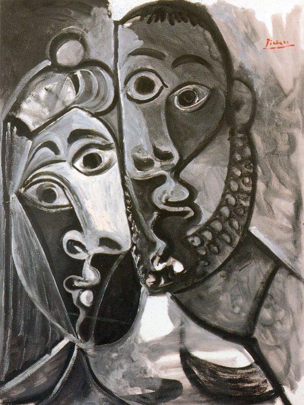 Пабло Пикассо. Влюбленная пара
