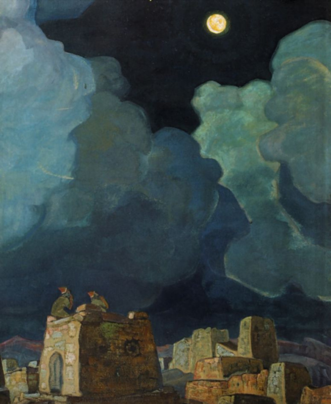 Nicholas Roerich. Majeski. The moon people
