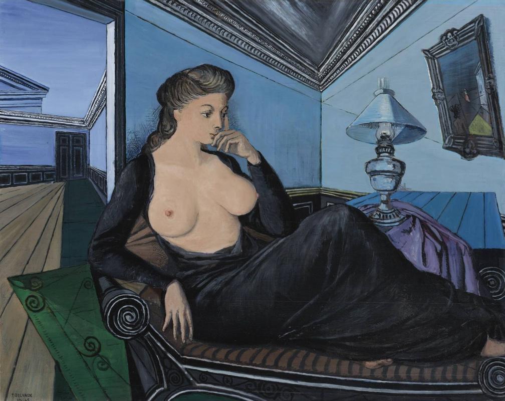 Paul Delvo. Seated woman (lamp). 1945
